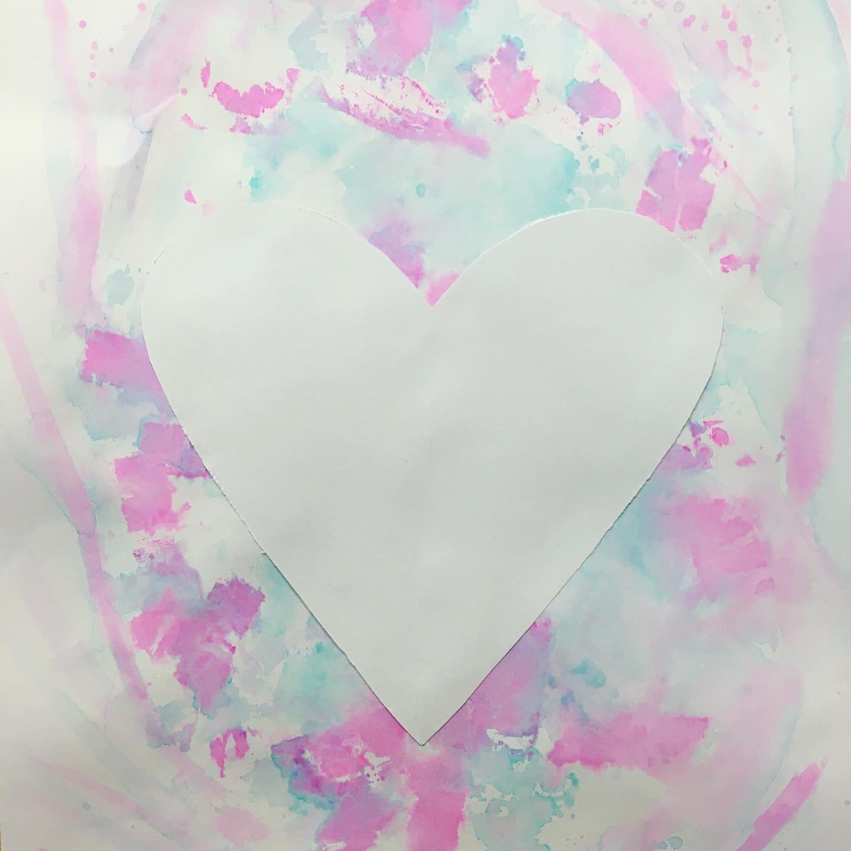 bílé srdce obrázek tvořivá výzva radka rubešová