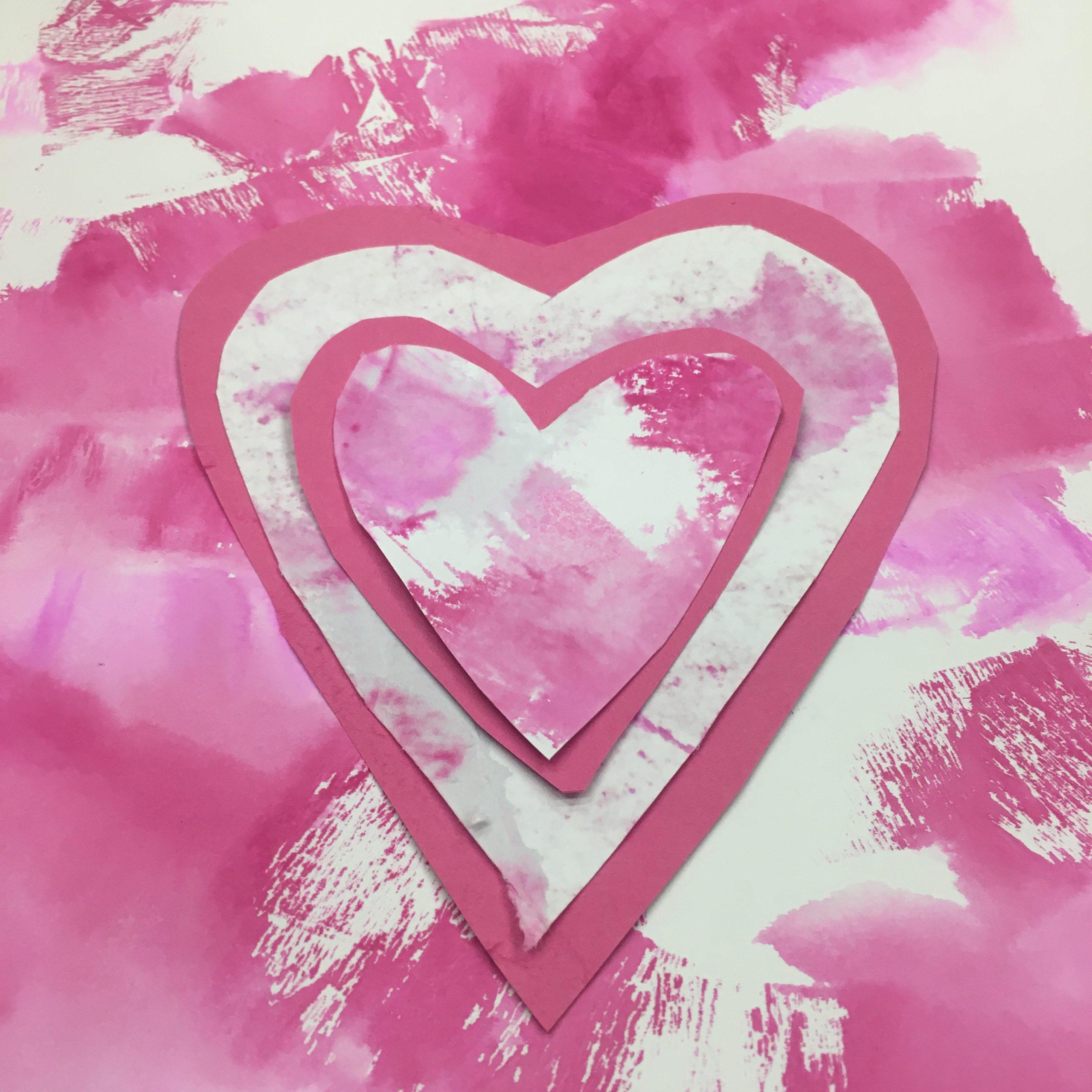 růžové srdce obrázek tvořivá výzva radka rubešová
