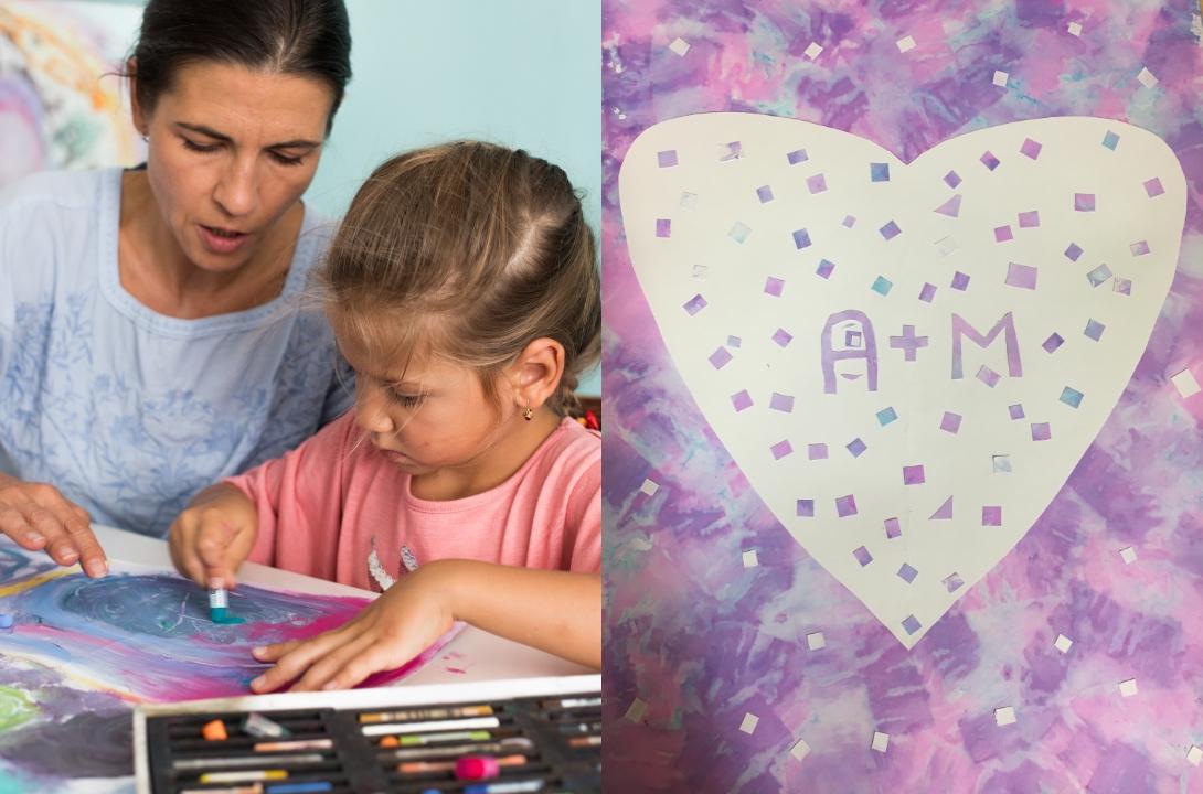 matka s dítětem tvoří srdcem tvořivá výzva radky rubešové