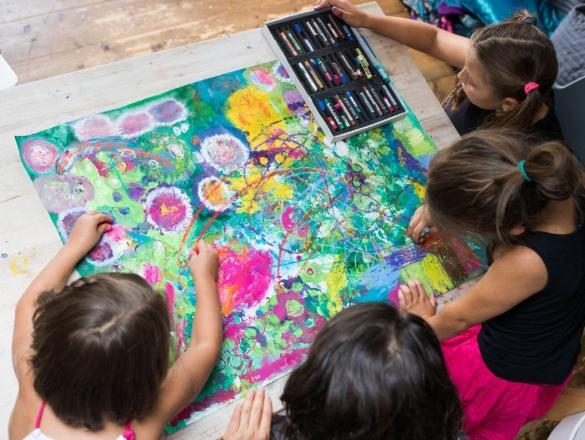 techniky a náměty v prožitkovém tvoření dětí společná výtvarná výchova prožitkem s radkou rubešovou pro lektory, pedagogy, učitele